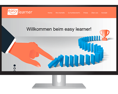 Easy Learner Landingpage